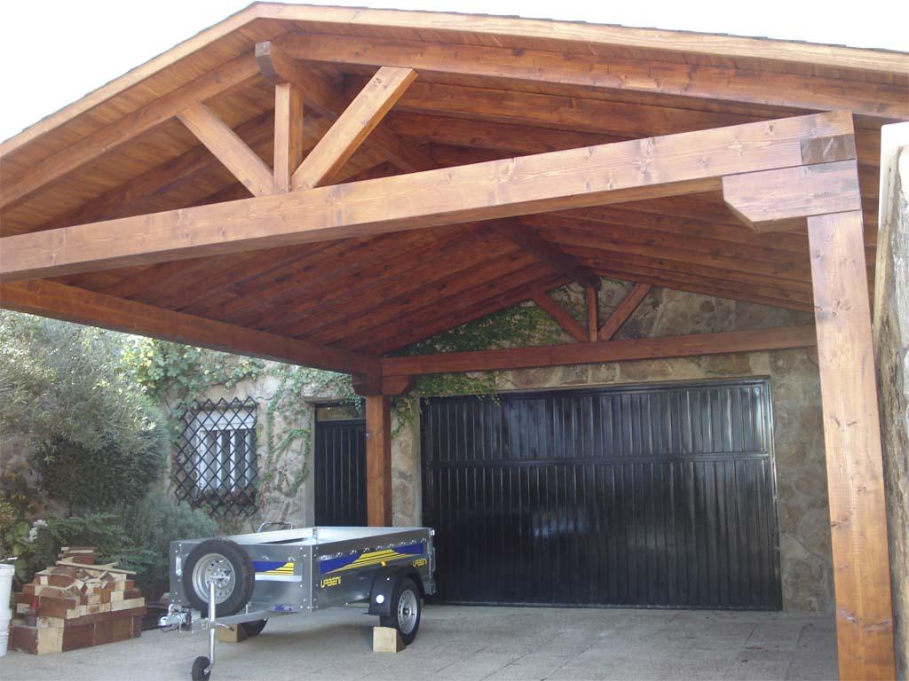 Marquesinas de madera para puertas interesting best for Garajes modelos