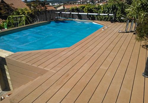 Tarima exterior madrid pergolas madera madrid porches - Material de piscina ...