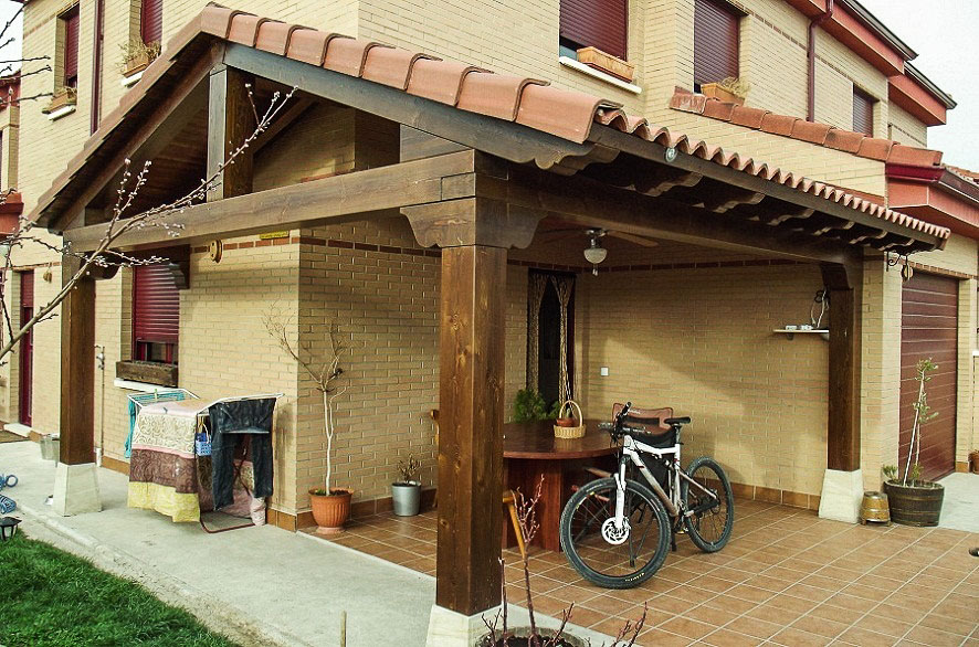 Tejados de madera a dos aguas stunning diseo de fachada for Tejados de madera a dos aguas