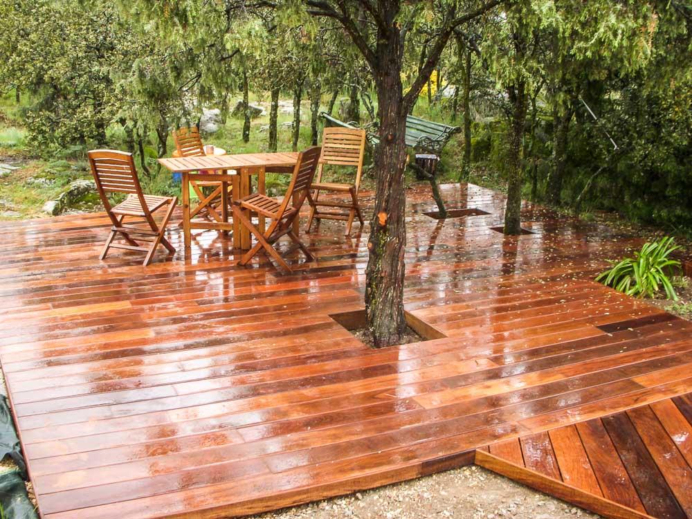 Tarima de madera en terazas tarima de exterior tarima for Terrazas madera
