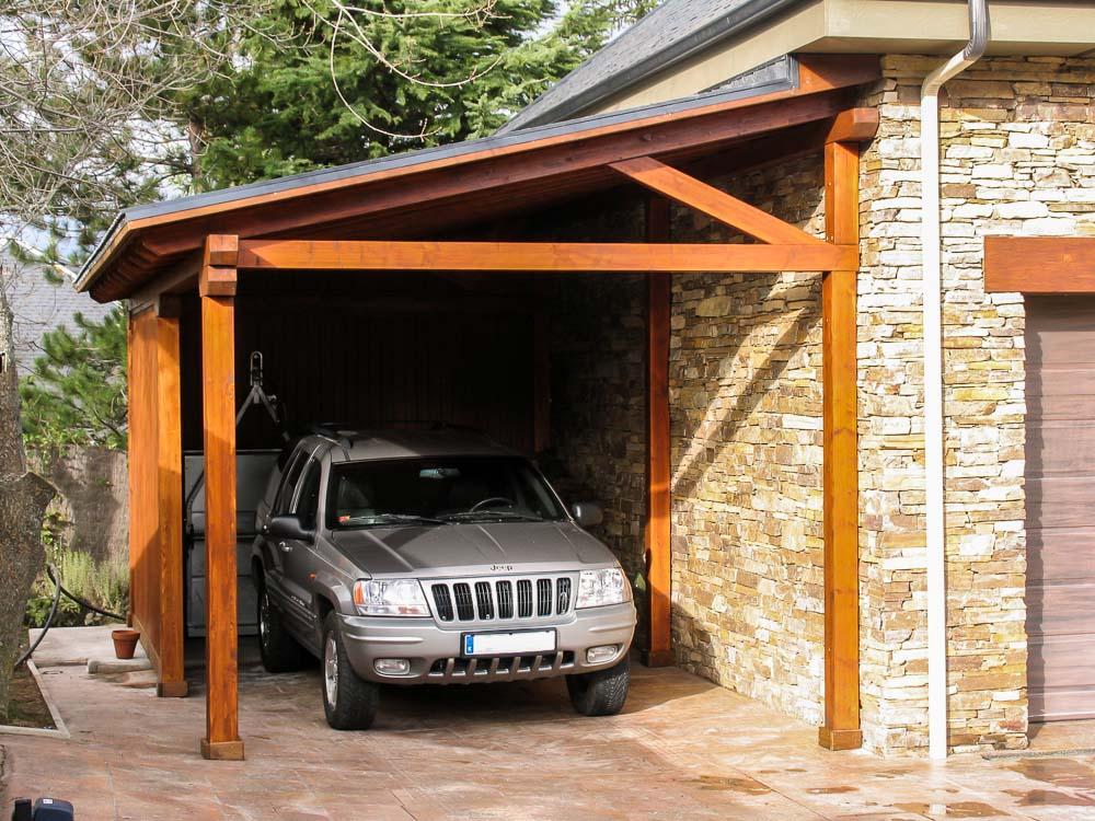 Garajes de madera tarima de exterior tarima de interior tarima flotante tarima ipe - Garajes para coches ...