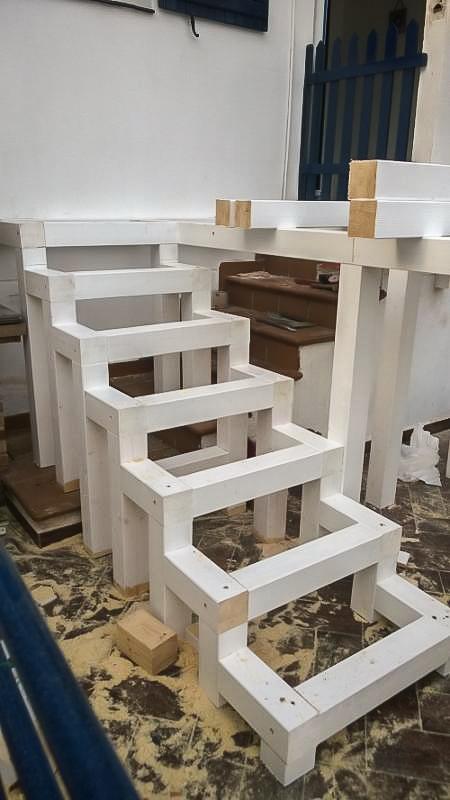 Deck de madera en Altura (100)