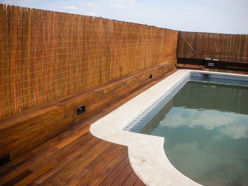 Tarima de madera en piscinas tarima de exterior tarima - Madera para piscinas ...